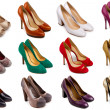 Stock Photo: Female footwear collection