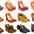 Female footwear collection — Stock Photo