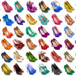 Stock Photo: Female shoes collection