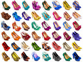 Female shoes collection — Stock Photo
