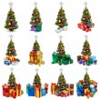 Stock Photo: Christmas trees collection