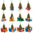 Christmas trees collection — Stock Photo #34174405