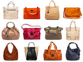 Female bags collection — Stock Photo