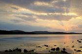 Beautiful sunrise over the Black Sea in Bulgaria — Stock Photo