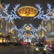 Stock Photo: London Christmas decoration 2012