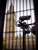 Big ben en big brother — Stockfoto