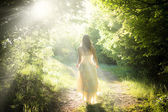 Walking fairy — Stock Photo