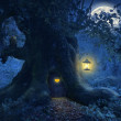 Tree home in the magic forest — Stock Photo #42901229