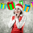 Stock Photo: Girl with a gifts