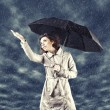 Girl with umbrella — Stock Photo #18284385