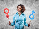 Gender symbols — Stock Photo