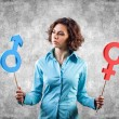 Stock Photo: Gender symbols