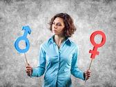 Genderové symboly — Stock fotografie