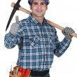 Stock Photo: Craftsman making a thumbs up sign