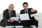 Business professionals discussing their project — Stock Photo