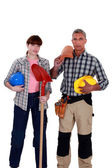 A team of tradespeople — Stock Photo