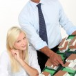 Stock Photo: Real estate agents working at office