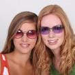 Teenagers with sunglasses — Stock Photo