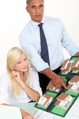 Real estate agents working at the office — Stock Photo