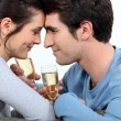 Foto Stock: Romantic couple