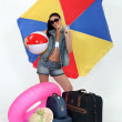Stock Photo: Womready for summer holiday