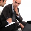 Two businessmen waiting for client — Stock Photo