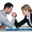 Executive arm wrestling. — Stock Photo