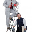 A painter and a tiler. — Stock Photo