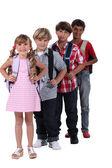 Schoolchildren — Stock Photo
