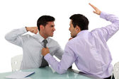 Two businessmen coming to blows — Stock Photo