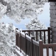 Stock Photo: Snowy balcony