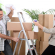 Couple moving house — Stock Photo #13826754