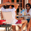 Enjoying a barbecue in the sunshine — Stock Photo #13827453