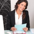 Woman in recruitment firm — Stock Photo