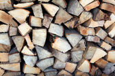 A stack of firewood — Stock Photo