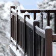 Snowy balcony — Stock Photo