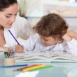 Child colouring — Stock Photo #13929749