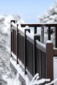 Snowy balcony — Stock Photo