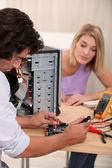 Technician repairing computer — Stock Photo