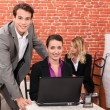 Enthusiastic coworkers — Stock Photo