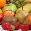 Big colourful pack of fruits — Stockfoto
