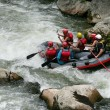 Stock Photo: White water rafting