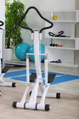 Elliptical machine in a gym — Stock Photo