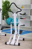 Elliptical machine in a gym — Stock Photo