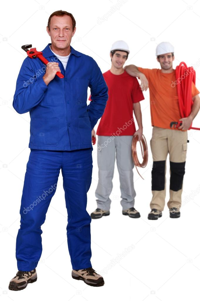 Skilled labourers — Stock Photo #13930669