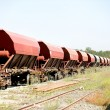 Goods train - Stock Photo