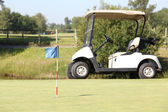 Golf cart on the green — Stockfoto