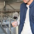 Winemaker in plant - Lizenzfreies Foto