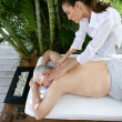 Man receiving back massage — Stock Photo #14035570