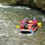 White water rafting — Stock Photo